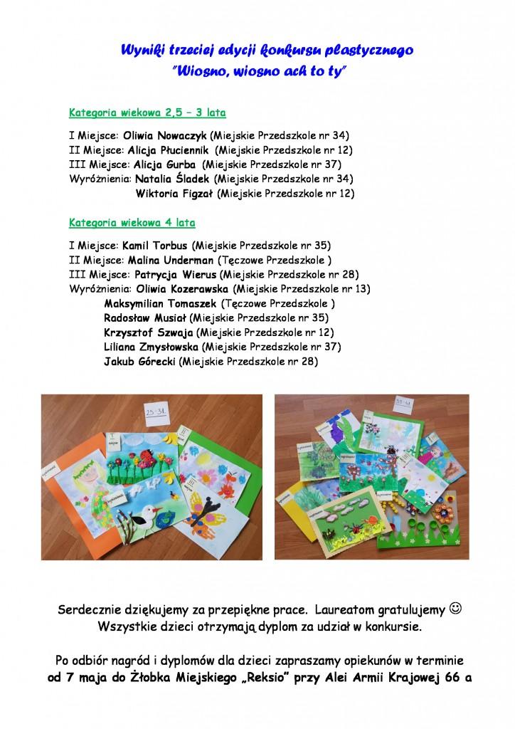 2018-Oficjalne-wyniki-KONKURSU-PLASTYCZNEGO-Żłobek-MIejski-Reksio